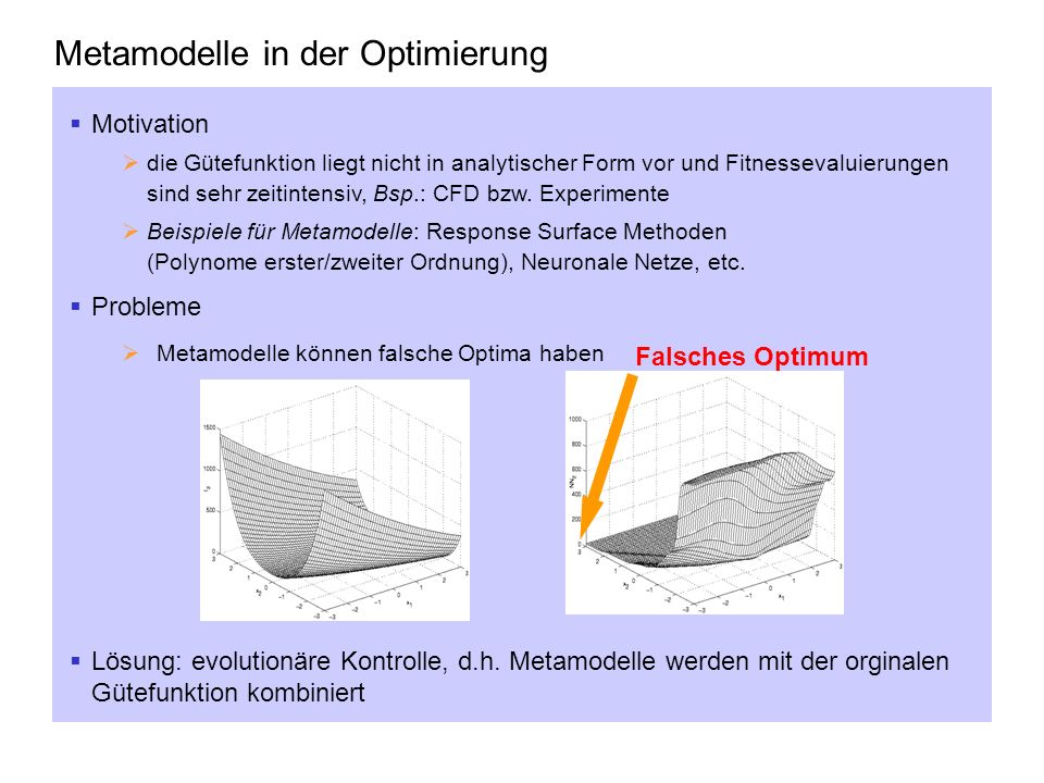 Metamodelle in der Optimierung