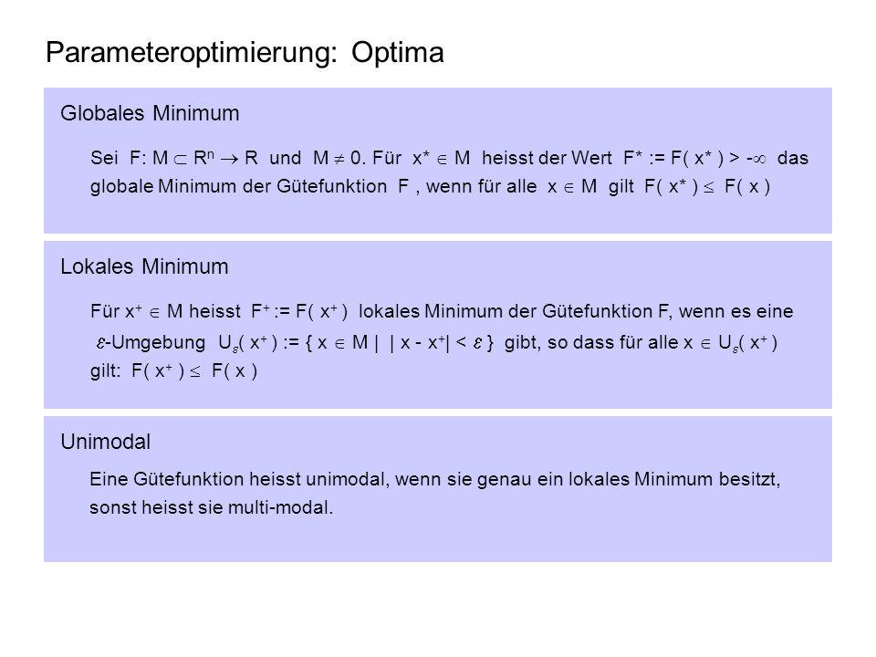 Parameteroptimierung: Optima