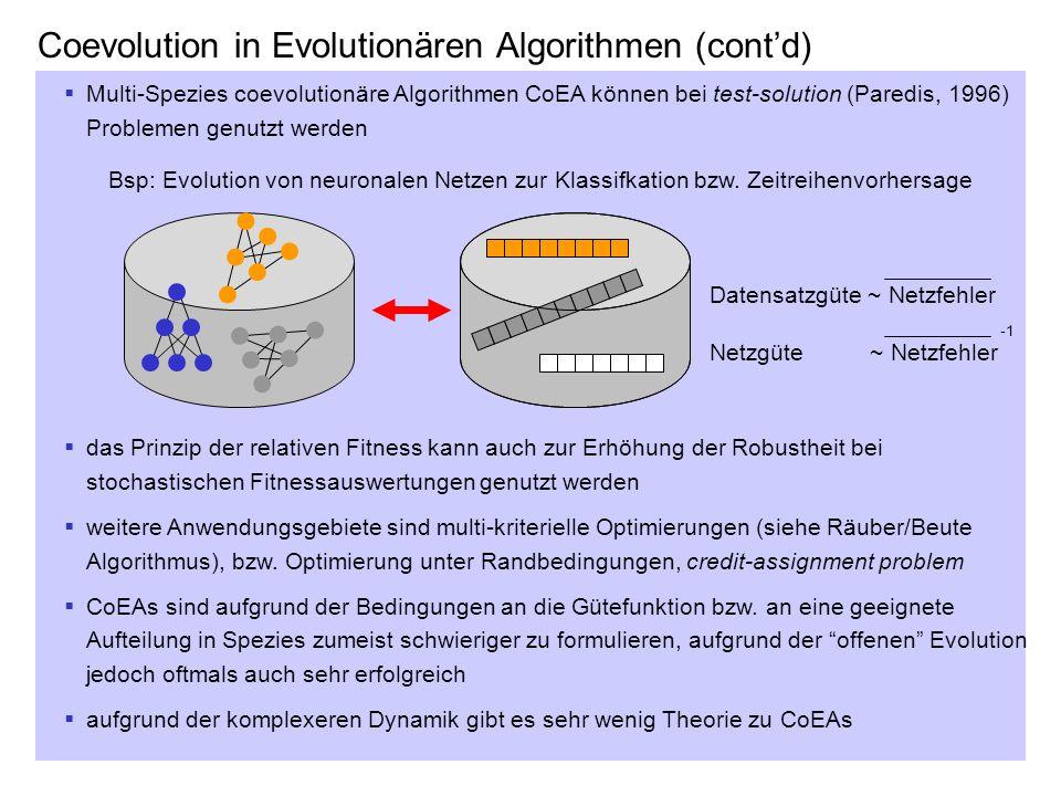 Coevolution in Evolutionären Algorithmen (cont'd)