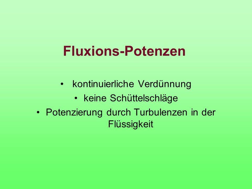 Fluxions-Potenzen kontinuierliche Verdünnung keine Schüttelschläge