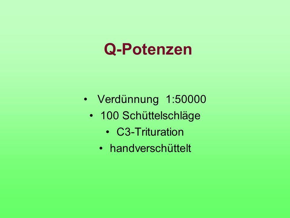 Q-Potenzen Verdünnung 1:50000 100 Schüttelschläge C3-Trituration