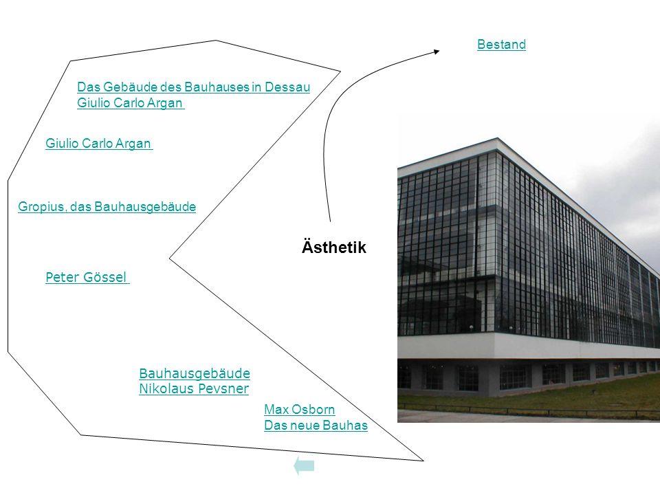 Bauhausgebäude Ästhetik