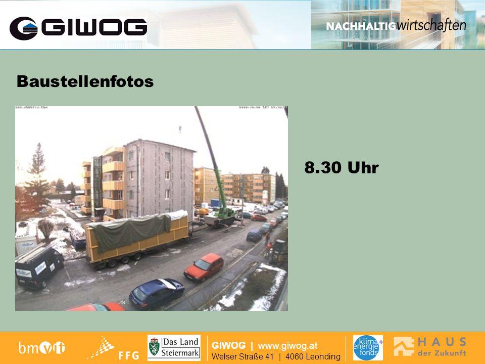 Finanzierung Baustellenfotos 8.30 Uhr GIWOG | www.giwog.at