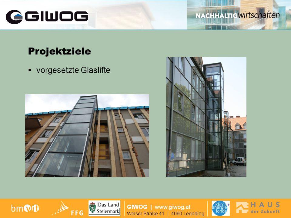 Ausgangslage Projektziele vorgesetzte Glaslifte GIWOG | www.giwog.at