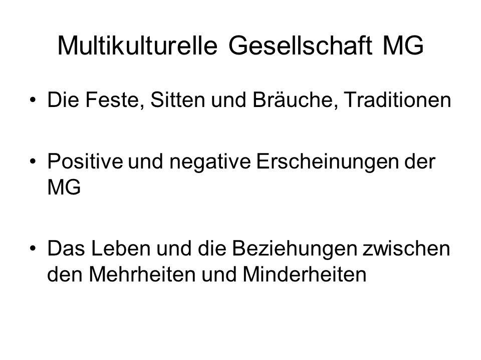 Multikulturelle Gesellschaft MG