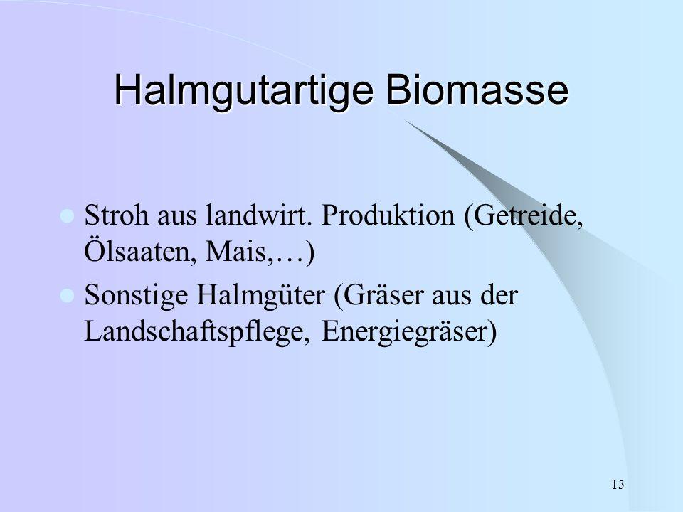 Halmgutartige Biomasse