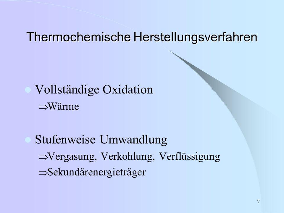 Thermochemische Herstellungsverfahren