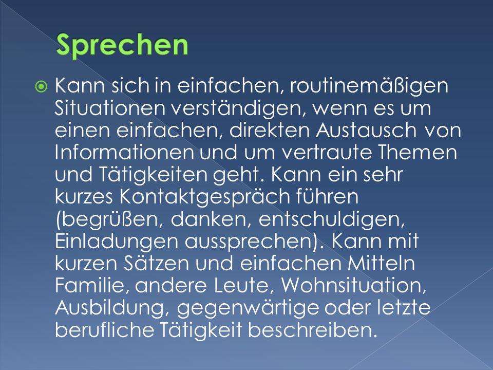 Sprechen