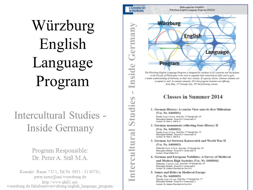 Würzburg English Language Program