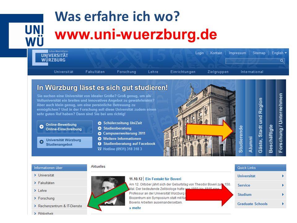 Was erfahre ich wo www.uni-wuerzburg.de