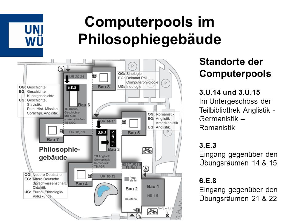Computerpools im Philosophiegebäude