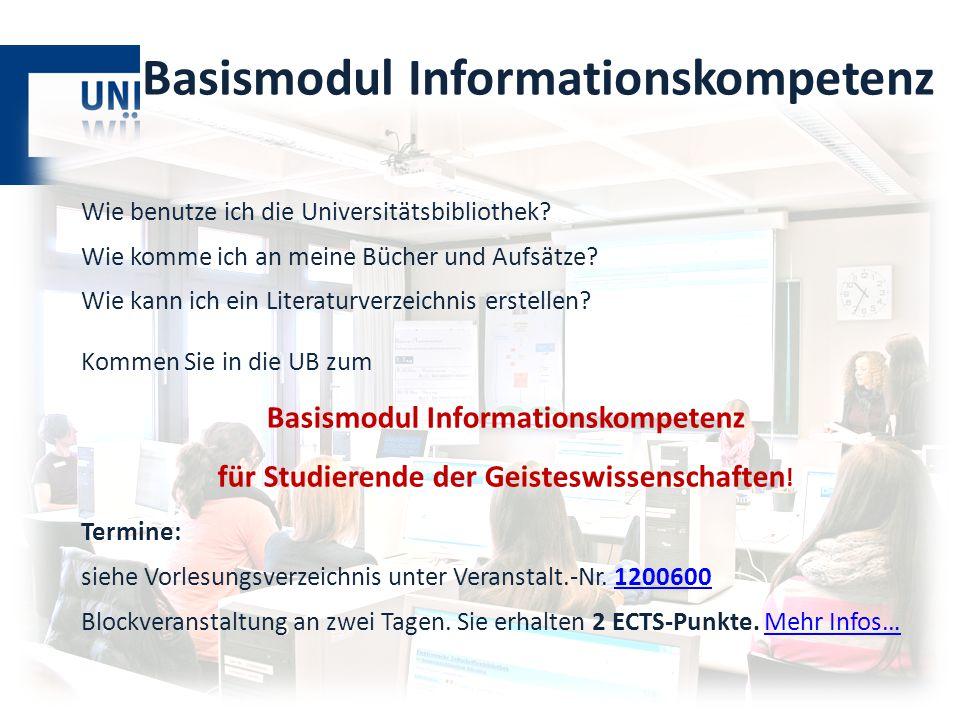 Basismodul Informationskompetenz