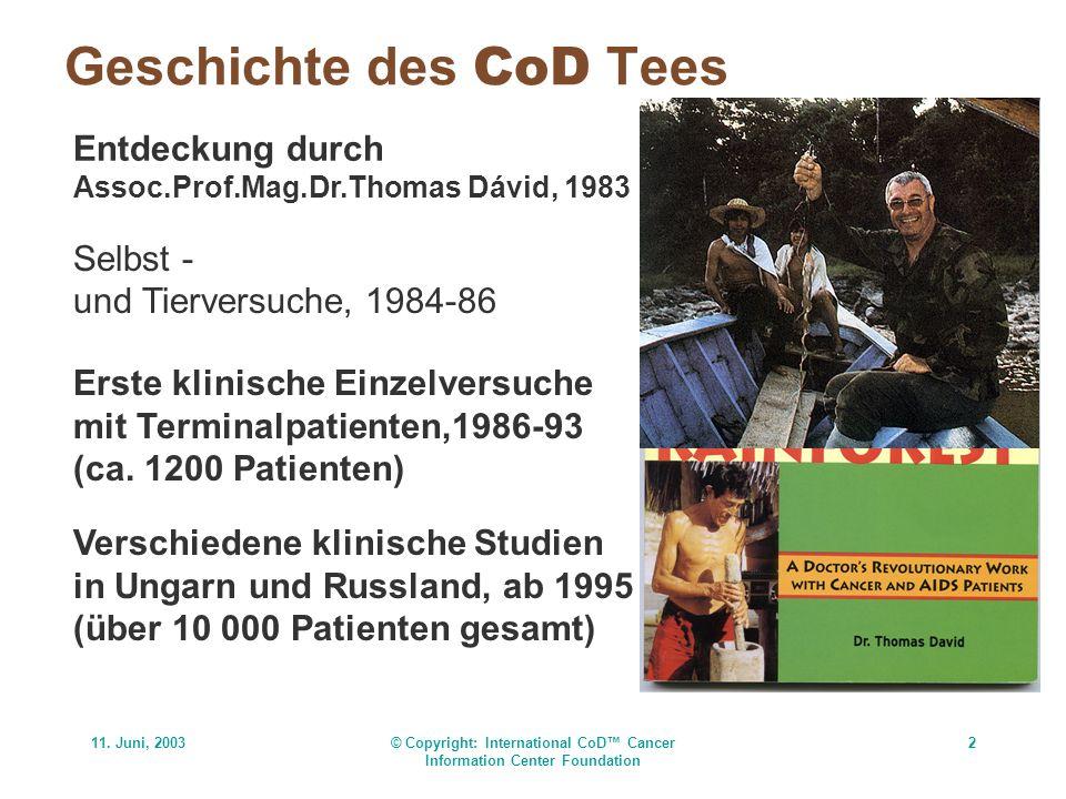 Geschichte des CoD Tees