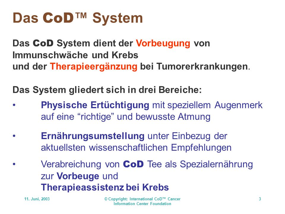 © Copyright: International CoD™ Cancer Information Center Foundation