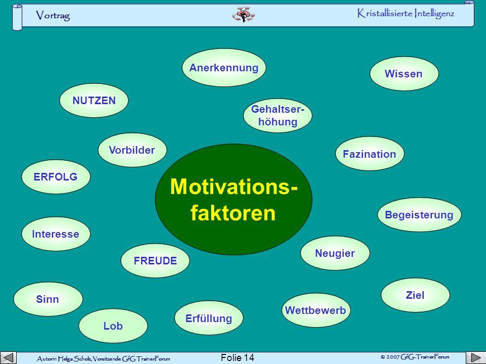 Motivations- faktoren