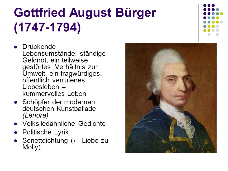 Gottfried August Bürger (1747-1794)