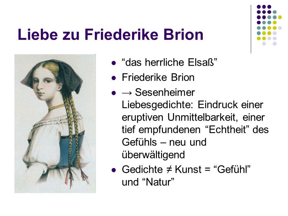 Liebe zu Friederike Brion
