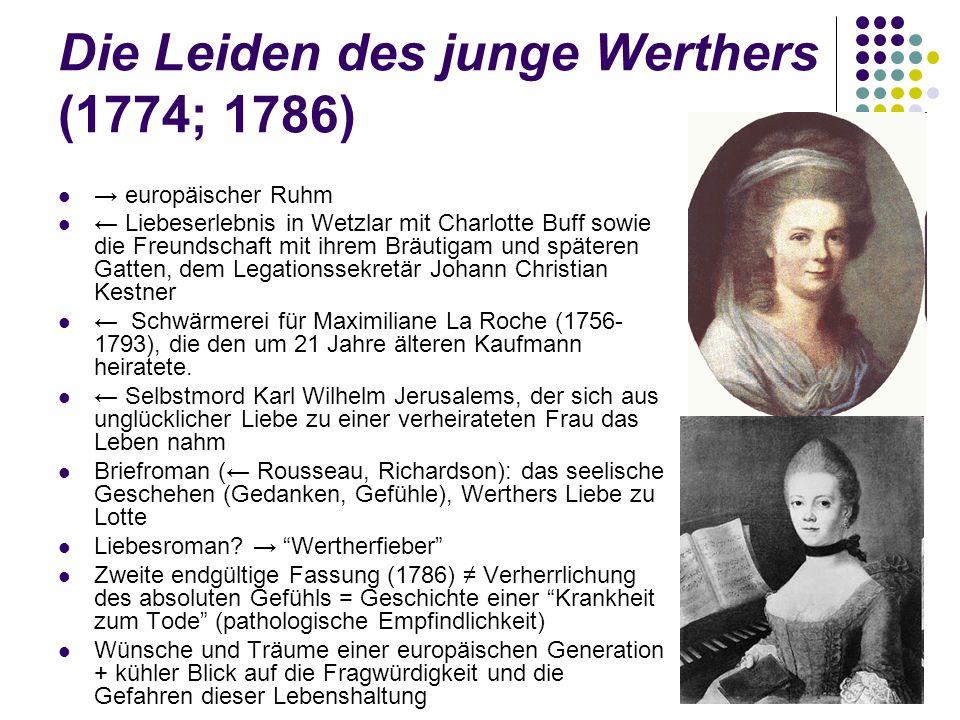 Die Leiden des junge Werthers (1774; 1786)