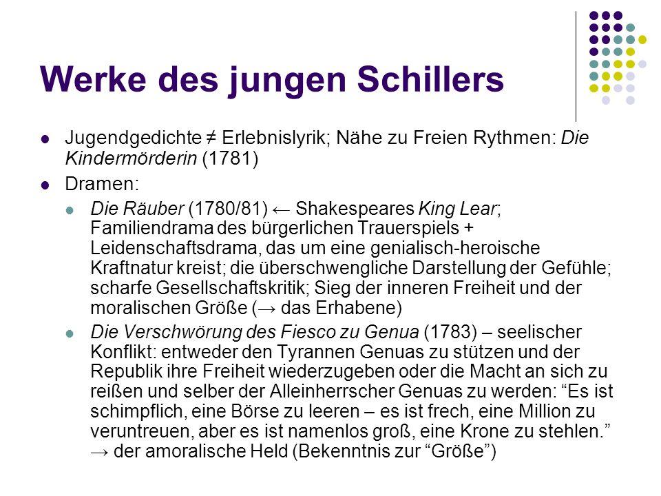 Werke des jungen Schillers