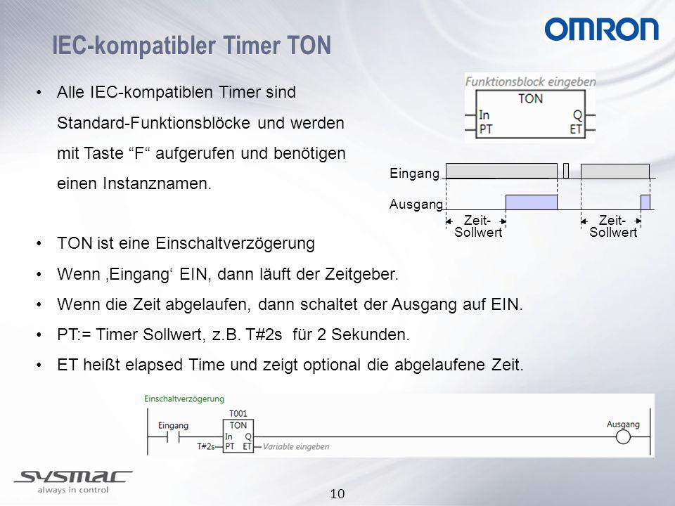 IEC-kompatibler Timer TON