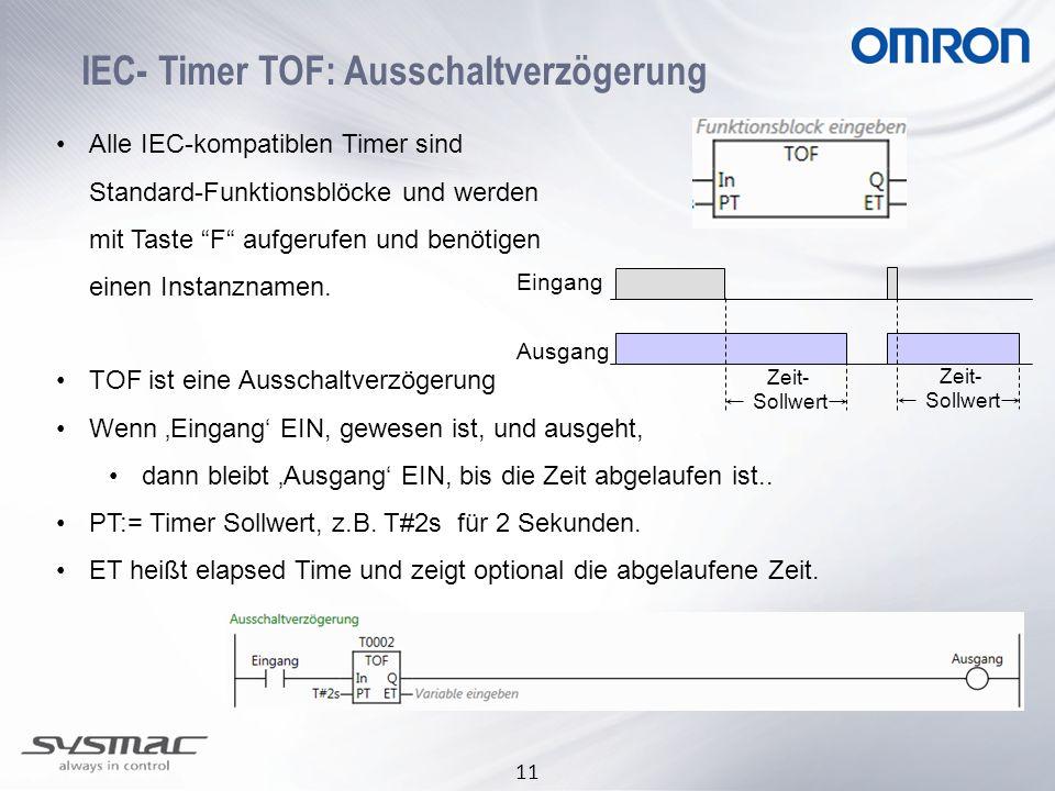 IEC- Timer TOF: Ausschaltverzögerung