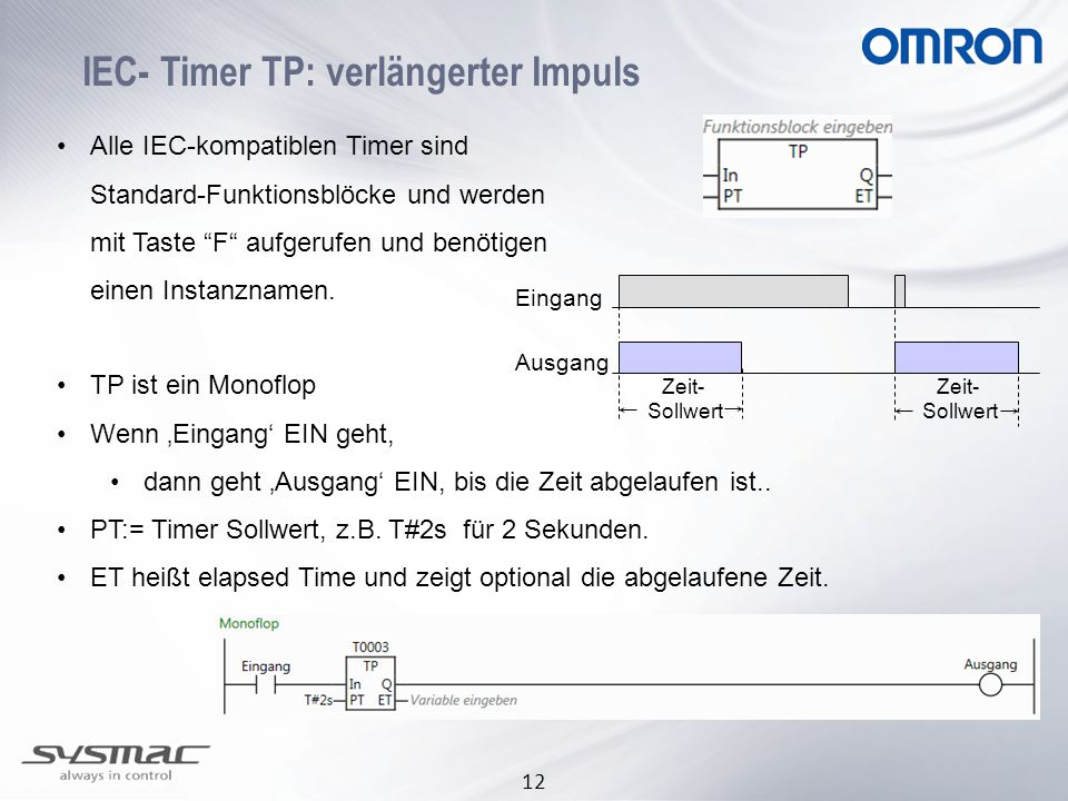 IEC- Timer TP: verlängerter Impuls