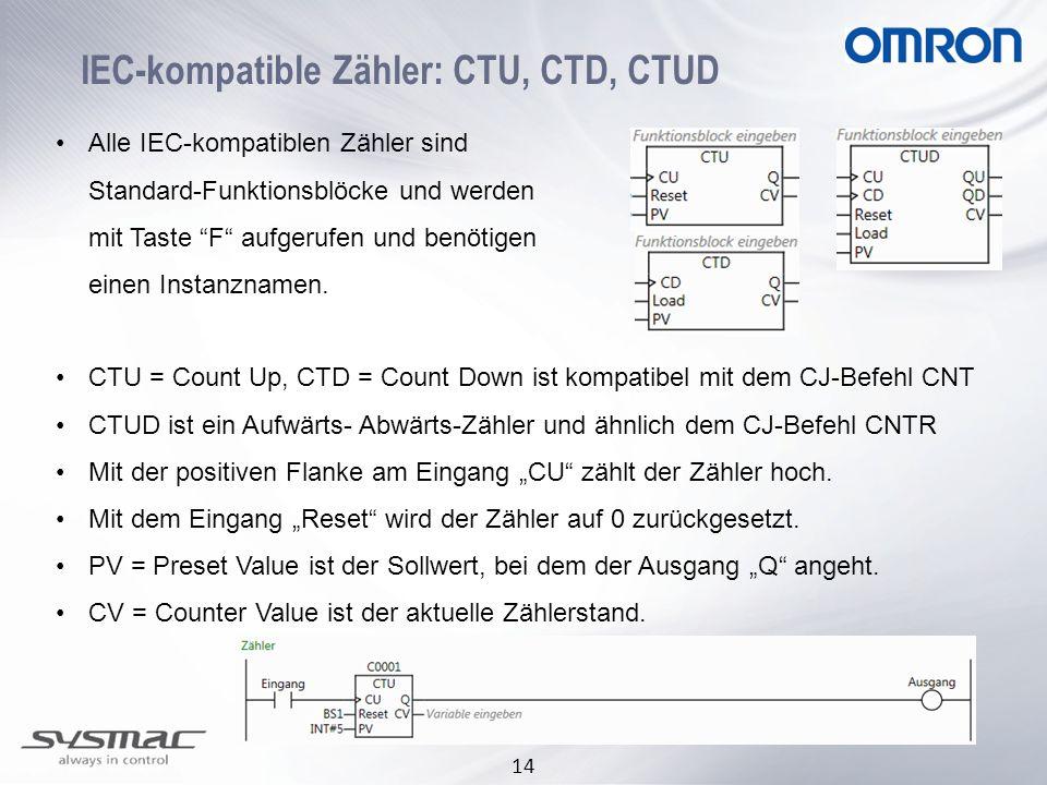 IEC-kompatible Zähler: CTU, CTD, CTUD