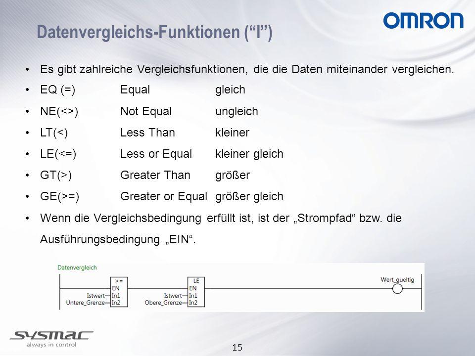 Datenvergleichs-Funktionen ( I )