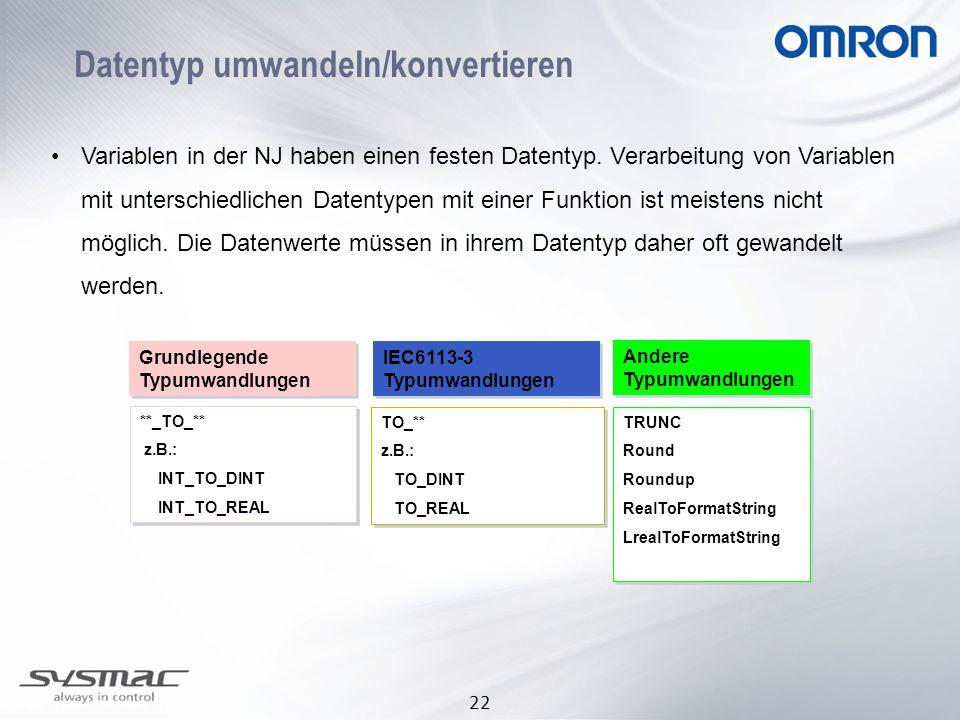 Datentyp umwandeln/konvertieren