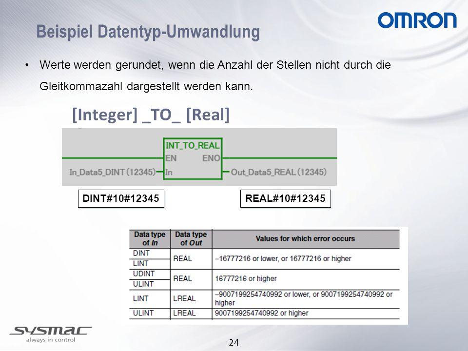 Beispiel Datentyp-Umwandlung