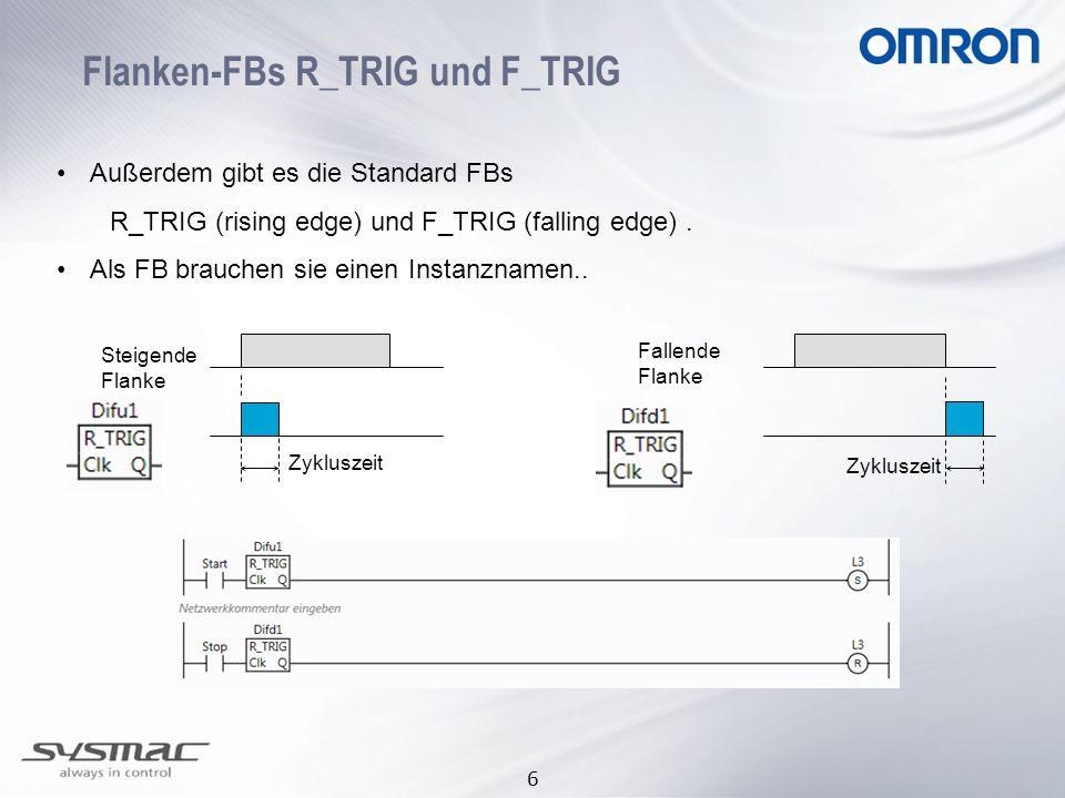 Flanken-FBs R_TRIG und F_TRIG