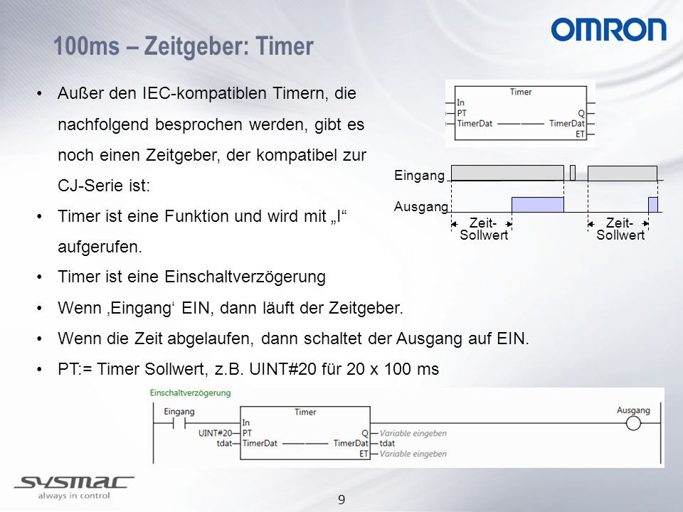 100ms – Zeitgeber: Timer