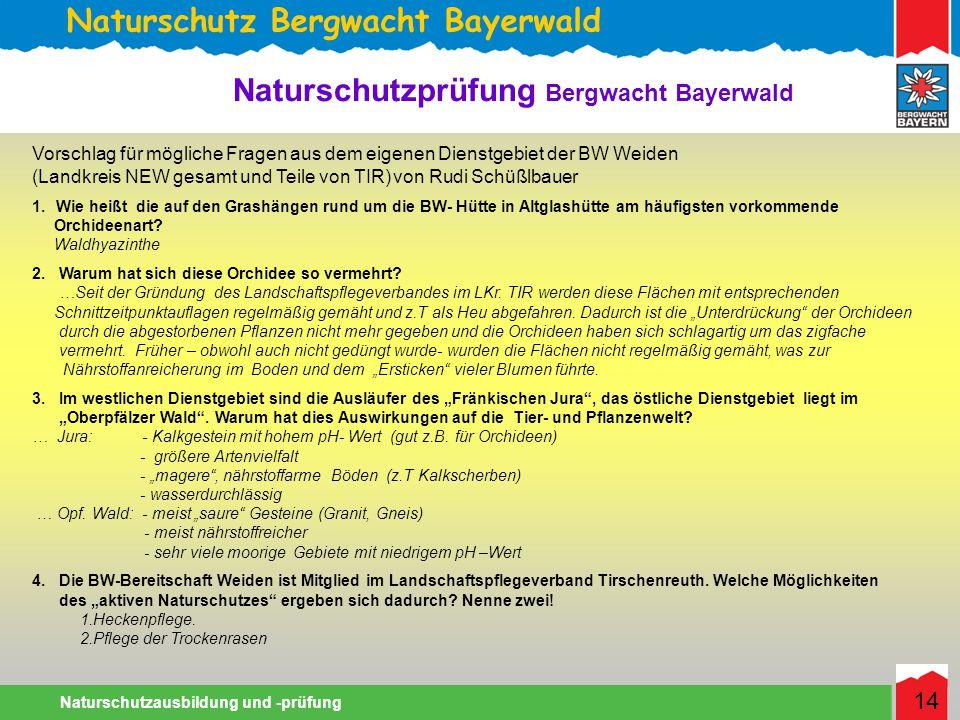 Naturschutz Bergwacht Bayerwald