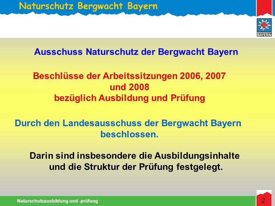 Naturschutz Bergwacht Bayern