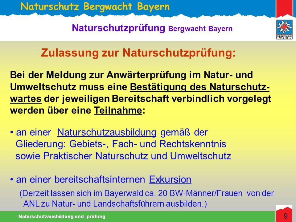Zulassung zur Naturschutzprüfung: