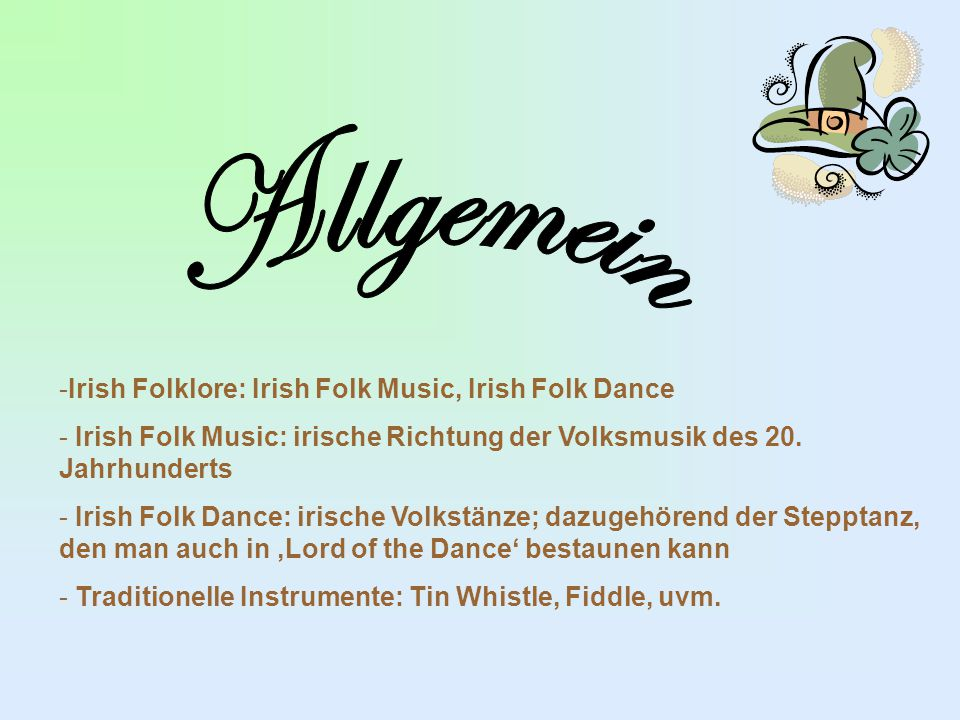 Allgemein Irish Folklore: Irish Folk Music, Irish Folk Dance