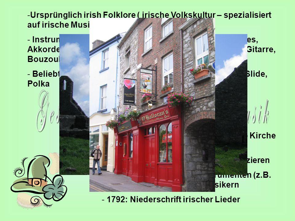 Geschichte der irischen Volksmusik