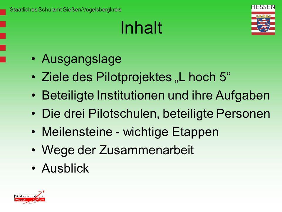 "Inhalt Ausgangslage Ziele des Pilotprojektes ""L hoch 5"