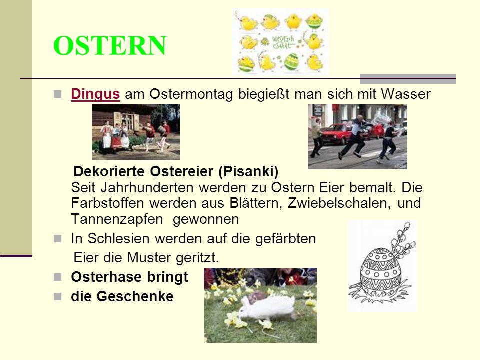 OSTERN Dingus am Ostermontag biegießt man sich mit Wasser