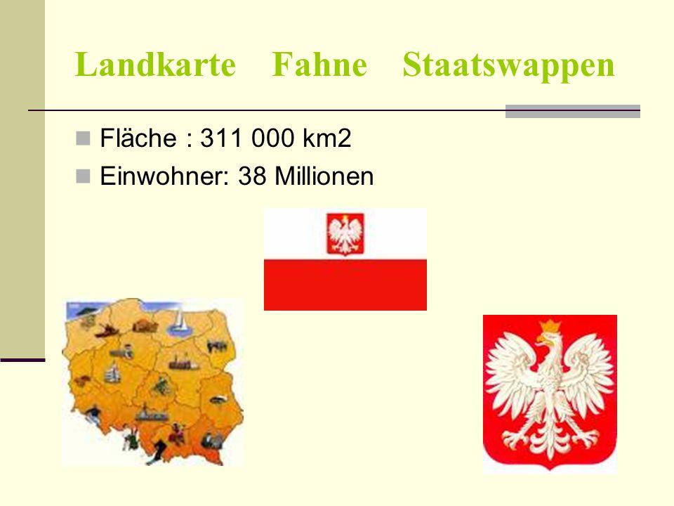 Landkarte Fahne Staatswappen