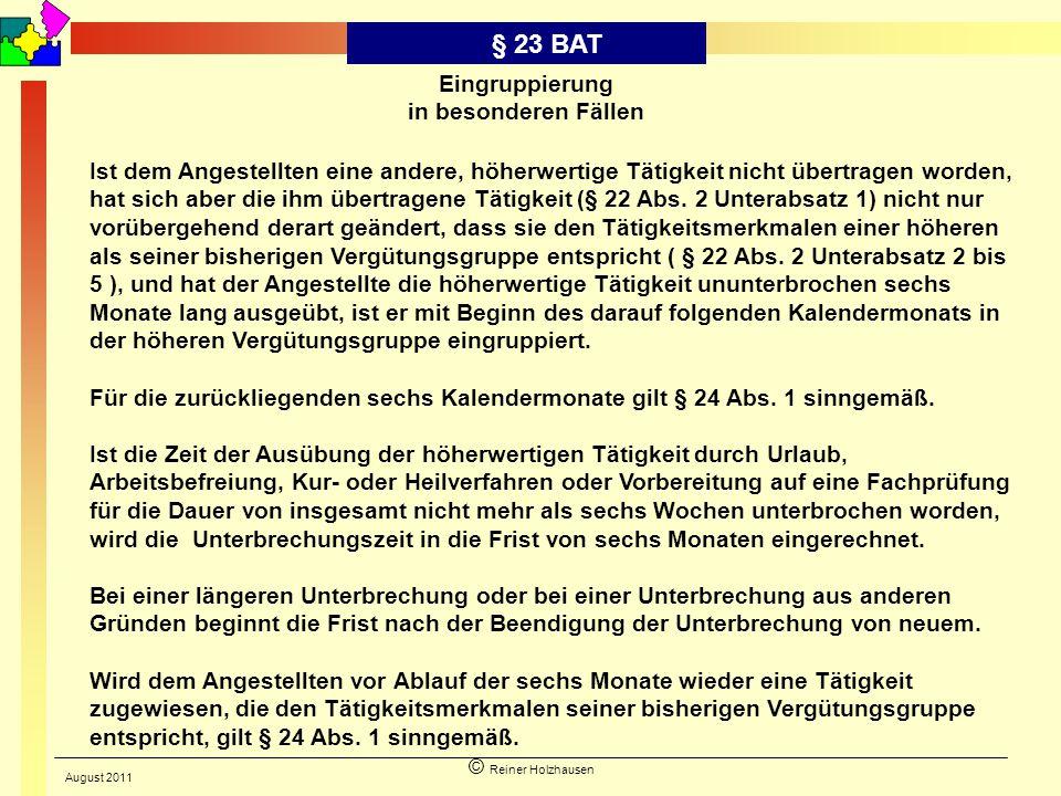 § 23 BAT Eingruppierung in besonderen Fällen
