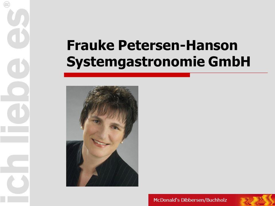 Frauke Petersen-Hanson Systemgastronomie GmbH