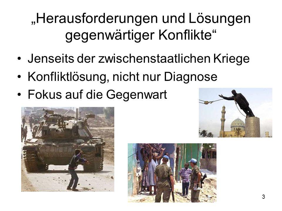 """""""Herausforderungen und Lösungen gegenwärtiger Konflikte"""