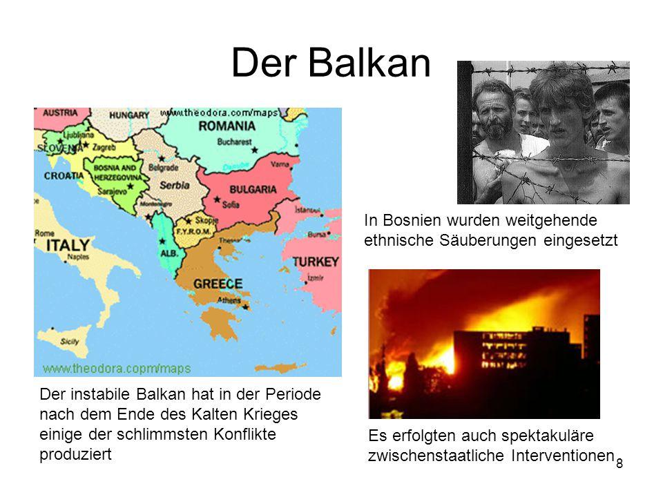 Der Balkan In Bosnien wurden weitgehende ethnische Säuberungen eingesetzt.