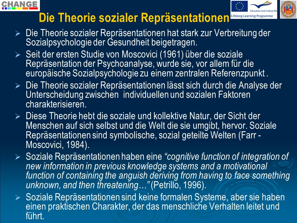 Die Theorie sozialer Repräsentationen