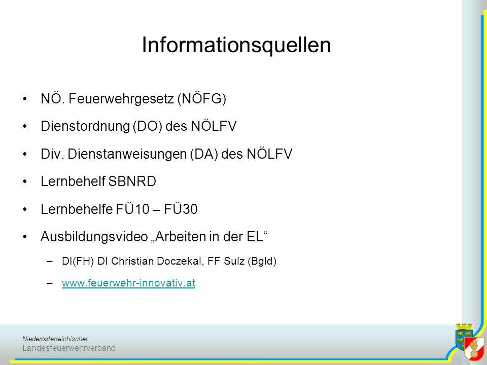 Informationsquellen NÖ. Feuerwehrgesetz (NÖFG)