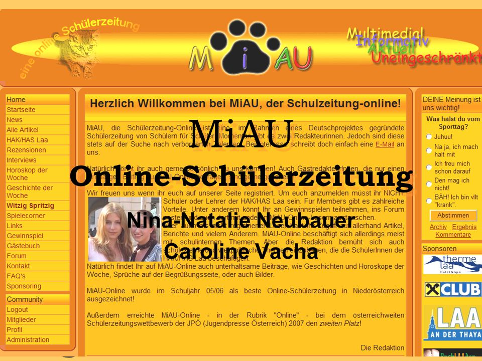 MiAU Online-Schülerzeitung