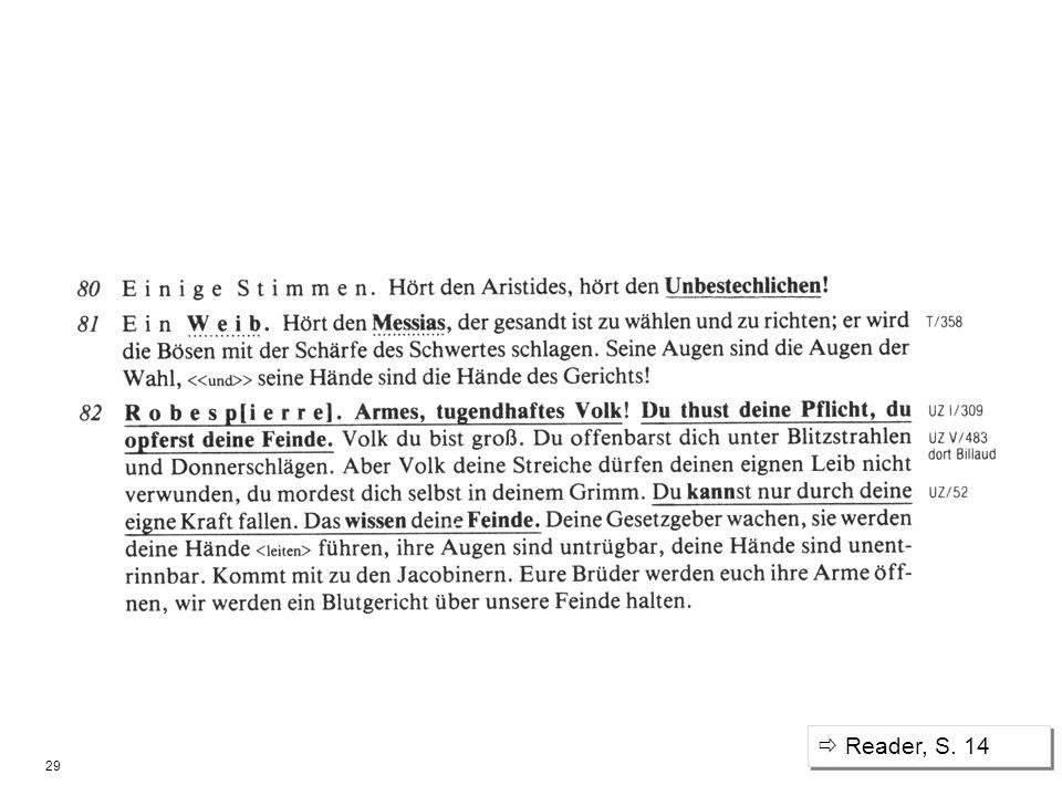  Reader, S. 14 Große Dichte von Zitaten