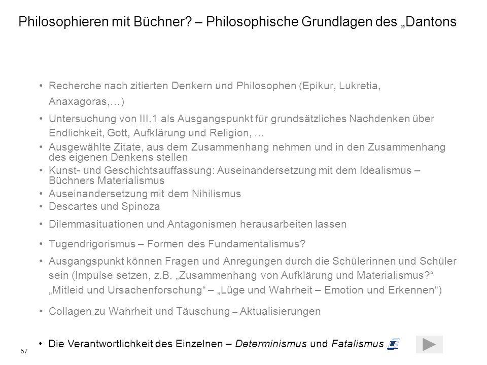 """Philosophieren mit Büchner – Philosophische Grundlagen des """"Dantons"""