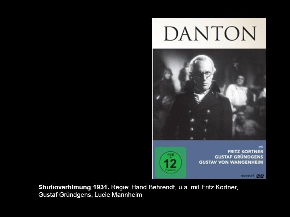 Studioverfilmung 1931. Regie: Hand Behrendt, u. a